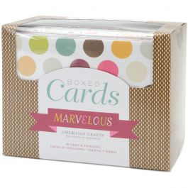 """American Crafts A2 Cards W/Envelopes (4.375""""X5.75"""") 40/Box Marvelous - 94429"""