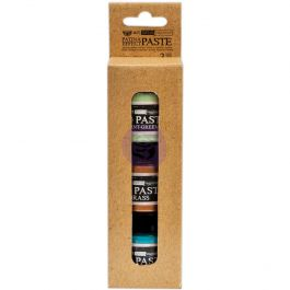 Finnabair Art Extravagance Patina Effect Paste Set Mint Green, Blue, Brass; 1.7 Fl Oz Each - 964351
