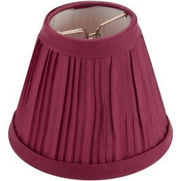 "Pleated Cloth Covered Lampshade 2.5""X4""X5"" Burgundy - 2609-65"