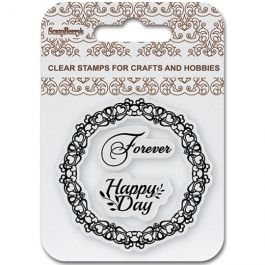 """Scrapberry'S Clear Stamps 2.7""""X2.7"""" Happy Day - 4907084"""