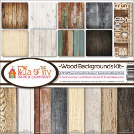"Ella & Viv Collection Kit 12""X12"" Wood Backgrounds - EAV800"