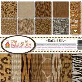 "Ella & Viv Collection Kit 12""X12"" Safari - EAV802"
