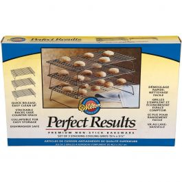 "Perfect Results Non Stick 3 Tier Cooling Rack 15.875""X9.875"" - W56815"