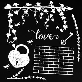 "49 And Market Archival Chipboard 6""X6"" Love White - AB86-707"