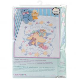 "Dimensions Quilt Stamped Cross Stitch Kit 34""X43"" Twinkle Twinkle - 3171"