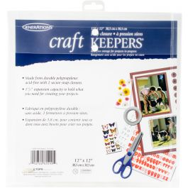 """Craft Keepers Snap Closure Envelope 12""""X12"""" Assorted Colors - 85590"""
