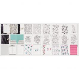 "My Prima A5 Planner 9.375""X9.375""X2.625"" In The Moment  Black W/White Dots - 591205"