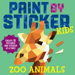 Workman Publishing Paint By Sticker Kids Zoo - WO-18960