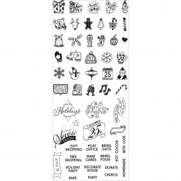 My Prima Planner Clear Stamps  Christmas Mini Icons & Words - 591595
