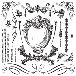 """Iron Orchid Designs Decor Clear Stamps 12""""X12"""" Signage Ii - 815387"""