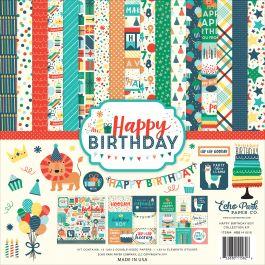 "Echo Park Collection Kit 12""X12"" Happy Birthday Boy - HBB14116"