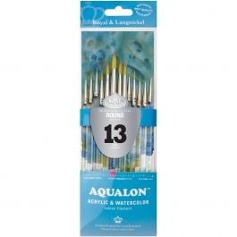 Aqualon Value Pack Brush Set Round 13/Pkg - RAQUA304