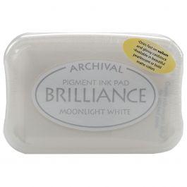 Brilliance Pigment Ink Pad Moonlight White - BRI-80