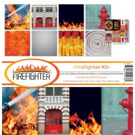 "Reminisce Collection Kit 12""X12"" Firefighter - FRF200"