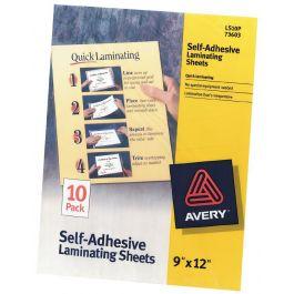 """Avery Self Adhesive Laminating Sheets 9""""X12"""" 10/Pkg  - 73603"""