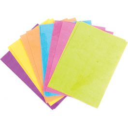 Chocomaker(R) Edible Wafer Paper Candy Sheets 12 Sheets/Pkg Assorted Colors - 9413-CMC