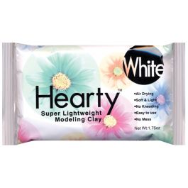 Hearty Super Lightweight Air Dry Clay 1.75Oz White - 1305A