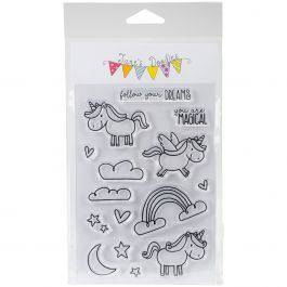 """Jane'S Doodles Clear Stamps 4""""X6"""" Unicorn - 742910"""