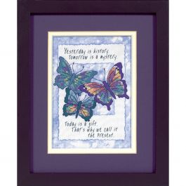 """Dimensions/Jiffy Mini Stamped Cross Stitch Kit 5""""X7"""" Today Is A Gift - 16730"""