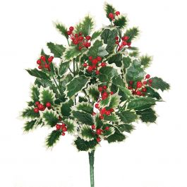 "Waterproof Variegated Holly Bush 16""  - 44234RDG"