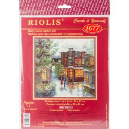 "Riolis Counted Cross Stitch Kit 11.75""X11.75"" Rainy Summer (18 Count) - R1677"