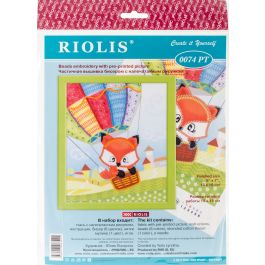 """Riolis Stamped Cross Stitch Kit 6""""X7"""" Little Fox - R0074PT"""
