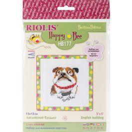 "Riolis Counted Cross Stitch Kit 6""X6"" English Bulldog (14 Count) - RHB177"