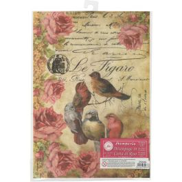 Stamperia Rice Paper Sheet A4 Le Figaro Birds - DFSA4034