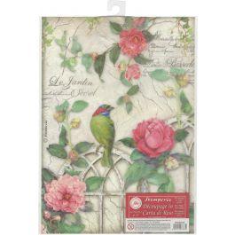 Stamperia Rice Paper Sheet A4 Gate W/Bird - DFSA4210