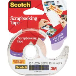 "Scotch Scrapbooking Tape Double Sided Removable .5""X300"" - 2002"