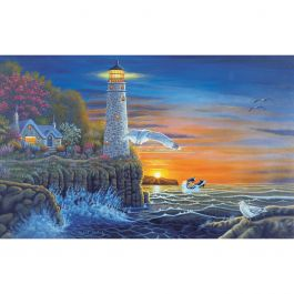"""Paint By Number Kit 15.375""""X11.25"""" Waterside Lighthouse - PAL-18"""