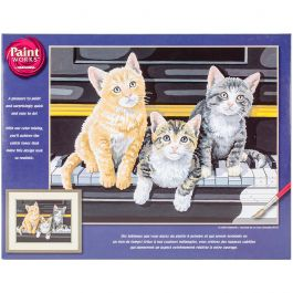 """Paint Works Paint By Number Kit 14""""X11"""" Musical Trio - 91144"""
