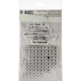 "49 And Market Clear Stamps 4""X6"" Pascale'S Rations - PB87681"