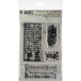 "49 And Market Clear Stamps 4""X6"" Pascale'S Tickets & Numbers - PB87698"