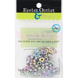 Eyelet Outlet Quicklets Round 84/Pkg Spring 2 - QRND-949