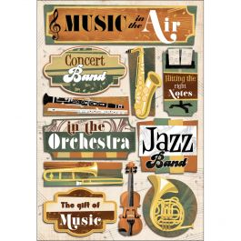 Karen Foster Cardstock Stickers Music Is In The Air - KF11580