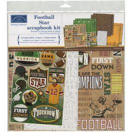 "Karen Foster Scrapbook Page Kit 12""X12"" Football Star - KF20518"