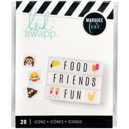 Heidi Swapp Lightbox Original Inserts 50/Pkg Emojis 2 - HS315015