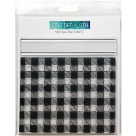 """Concord & 9Th Clear Stamps 6""""X6"""" Plaid Background - 10269"""