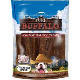"Pure Buffalo 6"" Backstrap Tendon Dog Treat 20/Pkg  - LP5653"