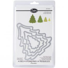 Sizzix Framelits Dies 4/Pkg Christmas Trees - 657944