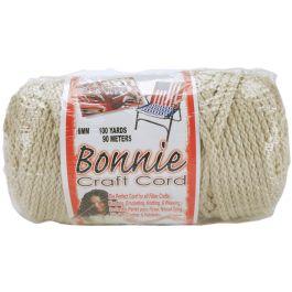 Bonnie Macrame Craft Cord 6Mmx100Yd Pearl (Beige) - BB6-100-005