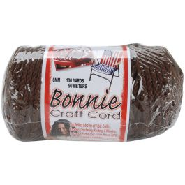 Bonnie Macrame Craft Cord 6Mmx100Yd Brown - BB6-100-009