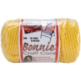 Bonnie Macrame Craft Cord 6Mmx100Yd Sunshine Yellow - BB6-100-025