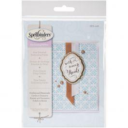 Spellbinders Embossing Folder Small Circles & Diamonds - SES006