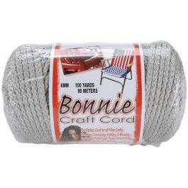 Bonnie Macrame Craft Cord 6Mmx100Yd Shadow Gray - BB6-100-041