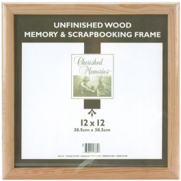 "Darice Wooden Memory Frame 12""X12"" Unfinished - 42090"