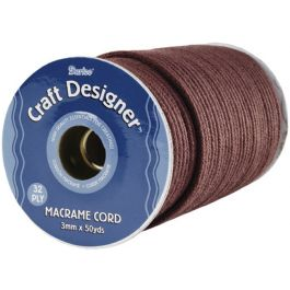 Macrame Cord 32 Ply 3Mmx50Yd Brown Poly - 1971-16