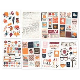 "Forever Fall Stickers 4""X6"" 8/Pkg-"