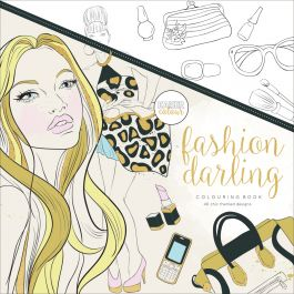 "Kaisercolour Perfect Bound Coloring Book 9.75""X9.75"" Fashion Darling - CL512"